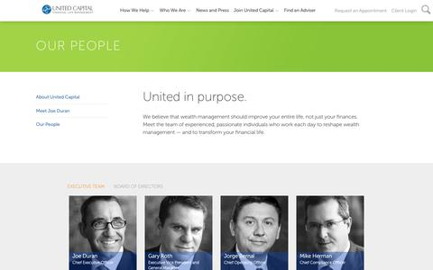 Screenshot of Team Page unitedcp.com - Our People - captured May 9, 2018
