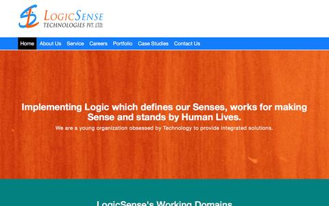 Screenshot of Home Page logicsensetech.com - LogicSense Technologies Pvt Ltd| Healthcare and medical integration solutions | Custom Project development | Technology solutions and Consultation - captured Nov. 12, 2016