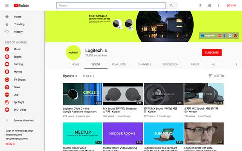 Logitech - YouTube - YouTube