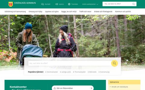 Screenshot of Home Page strangnas.se - Strängnäs kommun - Strängnäs kommun - captured Nov. 18, 2018