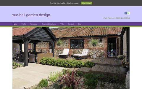 Screenshot of Home Page sbgardendesign.co.uk - Norfolk Garden Design & Planting Plans | Sue Bell - captured Oct. 19, 2018