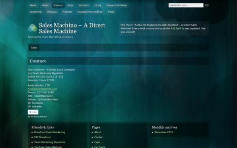 Screenshot of Contact Page wordpress.com - Contact | Sales Machino - A Direct Sales Machine - captured Sept. 12, 2014