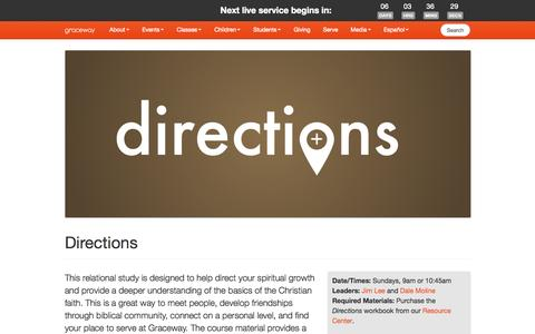 Screenshot of Maps & Directions Page visitgraceway.org - Directions | Graceway - captured Oct. 6, 2014