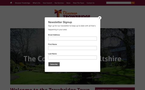 Screenshot of Home Page trowbridge.gov.uk - Home - Welcome to the home of Trowbridge Town Council - captured Nov. 13, 2017