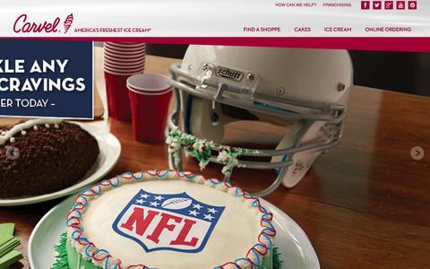 Screenshot of Home Page carvel.com - Carvel - captured Sept. 23, 2014
