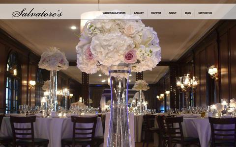 Screenshot of Home Page salvatores-chicago.com - Chicago Wedding Venue – Salvatore's - captured Jan. 30, 2016