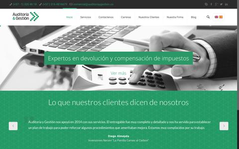 Screenshot of Home Page auditoriaygestion.co - Auditoria y Gestion   Auditoria & Gestion - captured Feb. 6, 2016