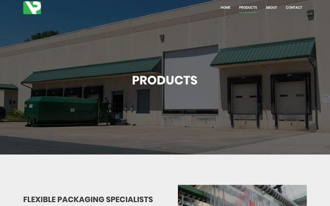 Screenshot of Products Page vacpacinc.com - Products | Vac Pac - captured Oct. 18, 2017