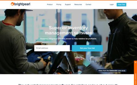 Screenshot of Home Page brightpearl.com - Multichannel retail ERP software | Brightpearl - captured Sept. 29, 2015