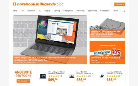Screenshot of Blog notebooksbilliger.de - notebooksbilliger.de Blog - captured Sept. 24, 2018