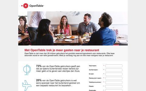 Screenshot of Landing Page opentable.com captured June 30, 2017