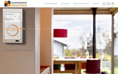 Screenshot of Home Page haverhals.eu - Home - Installatiebedrijf Haverhals - captured Sept. 27, 2018