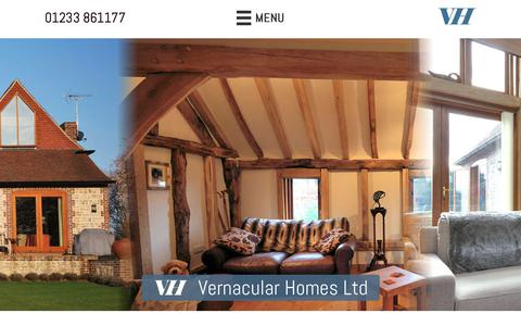 Screenshot of Case Studies Page vernacularhomes.com - Examples Of Our Work - Vernacular Homes - captured Oct. 19, 2018