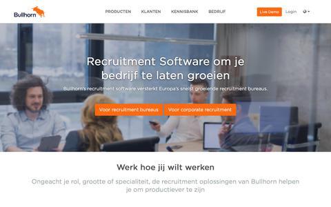 Recruitment Software | Applicant Tracking System | Bullhorn NL