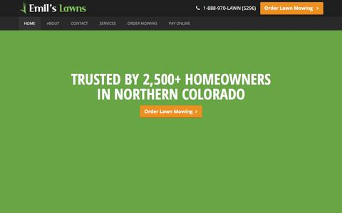 Screenshot of Home Page emilslawns.com - Emil's Lawns � Northern Colorado Lawn Care - captured Dec. 9, 2015