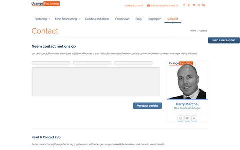 Screenshot of Contact Page orangefactoring.nl - Contact - captured Oct. 7, 2014