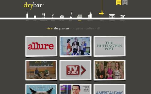 Screenshot of Press Page thedrybar.com - What is the Latest Press About Drybar, The Nation's Premier Blow Dry Bar - captured June 16, 2015