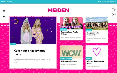 Screenshot of Home Page meidenmagazine.nl - Home - MEIDEN - captured Oct. 26, 2017