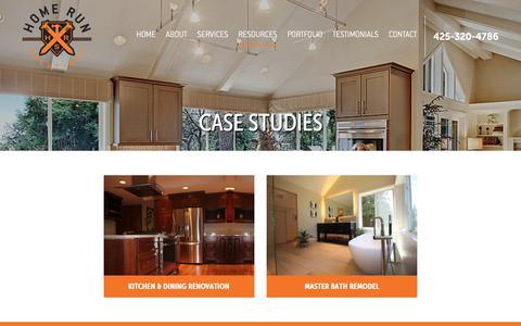 Screenshot of Case Studies Page homerunsolutions.net - Case Studies - Home Run Solutions - captured Dec. 15, 2018