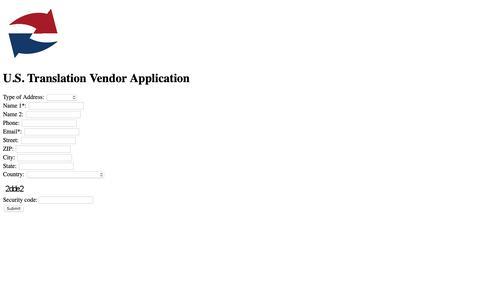 Screenshot of Jobs Page ustranslation.com - USTC Vendor Application - captured March 17, 2019