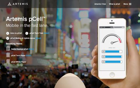 Screenshot of Home Page artemis.com - Artemis pCell Wireless Technology - captured Feb. 6, 2016