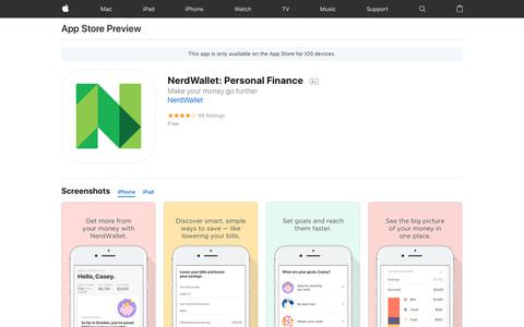 NerdWallet: Personal Finance on the AppStore