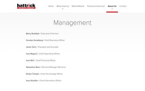Screenshot of Team Page hattricksg.com - Management  — Hattrick - captured Oct. 30, 2016