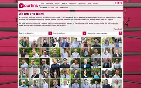 Screenshot of Team Page curtins.com - Our People - Curtins Consulting - captured Oct. 28, 2014
