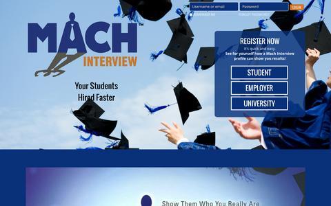 Screenshot of Home Page machinterview.com - Mach Interview - captured Sept. 19, 2014