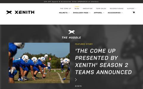 Screenshot of Blog xenith.com - The Huddle Blog | Xenith - captured Sept. 21, 2019