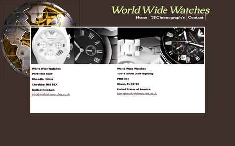 Screenshot of Contact Page worldwidewatches.co.uk - World Wide Watches - captured Oct. 1, 2018