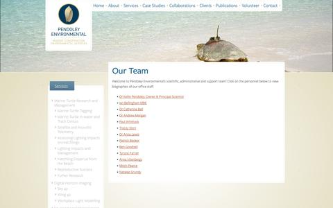 Screenshot of Team Page penv.com.au - Our Team » Pendoley Environmental - captured Oct. 2, 2014