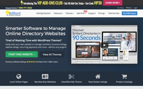 Screenshot of Home Page brilliantdirectories.com - Best Directory Software - Website Directory Software, Themes & Templates - captured June 2, 2017