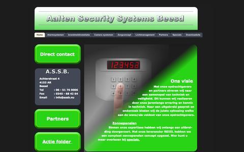 Screenshot of Home Page assb.nu - index - captured Oct. 4, 2014