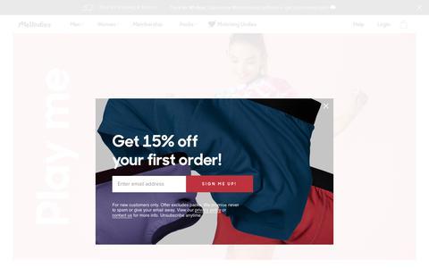Screenshot of About Page meundies.com - MeUndies | The World's Most Comfortable Underwear for Men & Women - MeUndies - captured April 7, 2019