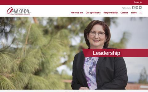 Screenshot of Team Page aeraenergy.com - Leadership - Aera Energy - captured Oct. 3, 2018