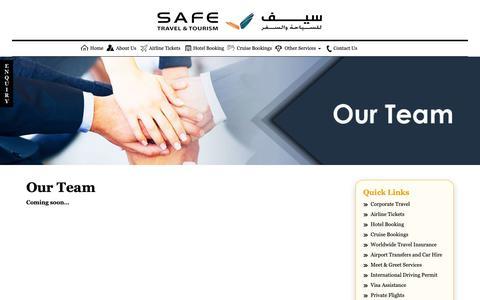 Screenshot of Team Page stqatar.com - ::  Our Team | SAFE TRAVEL & TOURISM:: - captured Oct. 1, 2018