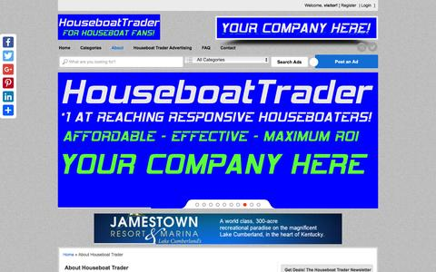 Screenshot of About Page houseboattrader.com - About Houseboat Trader - HouseboatTrader.com - captured Jan. 31, 2017