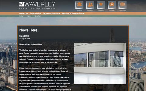 Screenshot of Press Page waverleyblinds.com - News Here | Waverley Blinds - captured Oct. 9, 2014
