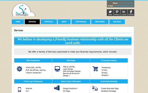 Screenshot of Services Page superintech.com - Web Development Company | E-commerce Solutions | i-Phone APP Development - captured Oct. 7, 2014