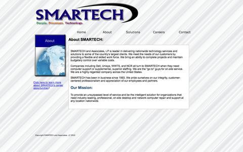 Screenshot of About Page smartech-csi.com - About SMARTECH and Associates - captured Oct. 3, 2014