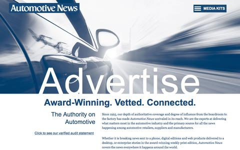 New Page - Automotive News Media Kit