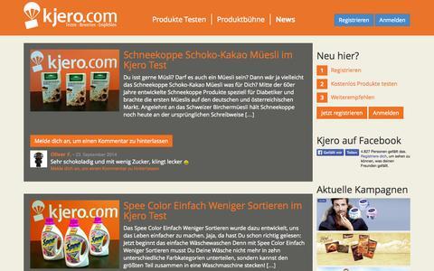 Screenshot of Press Page kjero.com - News - kjero.com - captured Sept. 24, 2014