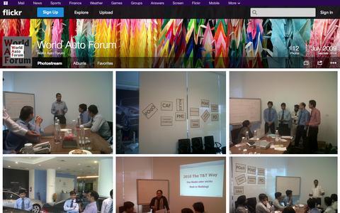 Screenshot of Flickr Page flickr.com - Flickr: World Auto Forum's Photostream - captured Oct. 25, 2014
