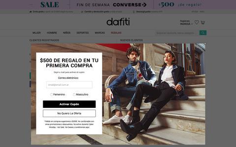 Screenshot of Login Page dafiti.com.ar - Crear cuenta - captured Aug. 10, 2019