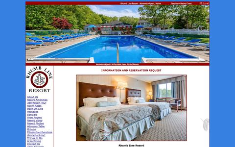 Screenshot of Contact Page rhumblineresort.com - Rhumb Line Resort - Kennebunkport, Maine Hotel Lodging - captured July 3, 2018