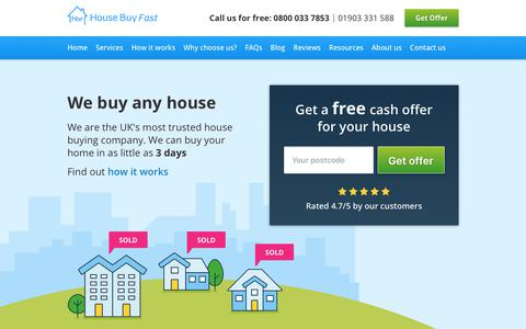 We buy any house or home quickly for cash