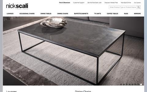 Screenshot of Home Page nickscali.com.au - Home | Nick Scali Furniture - captured Oct. 30, 2017