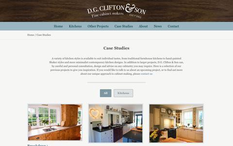 Screenshot of Case Studies Page dgclifton.com - Case Studies   DG Clifton - captured Oct. 7, 2018