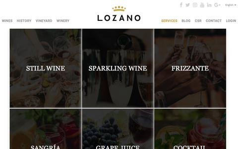 Screenshot of Services Page bodegas-lozano.com - Servicios - Bodegas Lozano - captured July 31, 2018